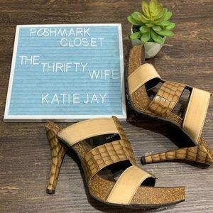 Donald J. Pliner GoldyS4 Cage 4 inch heels Size 6